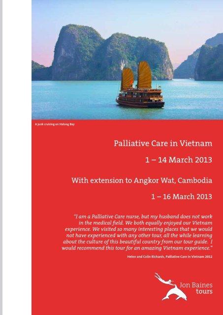 Palliative Care in Vietnam 1 – 14 March 2013 - Jon Baines Tours Ltd