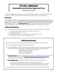 Studying Abroad - International & Area Studies Academic Program