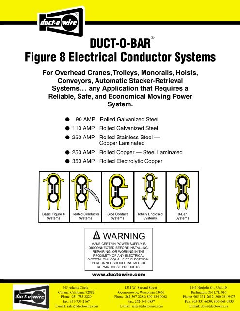 Duct O Wire | Duct O Bar Figure 8 Electrical Conductor Systems Duct O Wire