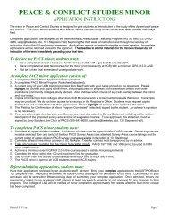 PACS Minor Application - International & Area Studies Academic ...