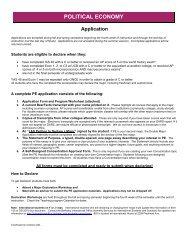 Application - International & Area Studies Academic Program
