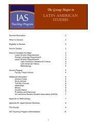 Latin American Studies - International & Area Studies Academic ...