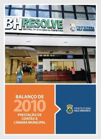 Balanço de 2010 - Prefeitura Municipal de Belo Horizonte