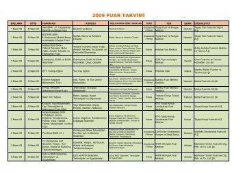 2009 FUAR TAKVÄ°MÄ°