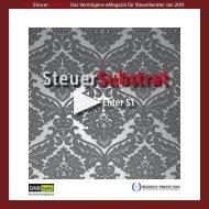 S1 SteuerSubstrat Das Vermögens-eMagazin für ... - FinComm