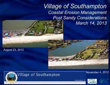 Coastal Erosion Management - Southampton Village