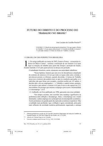 futuro do direito e do processo do trabalho no brasil