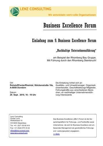 Business Excellence Forum - Wirtschaftszeit