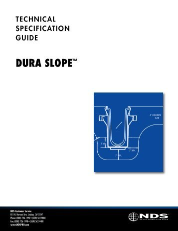 Dura Slope Technical Specification Guide - NDS