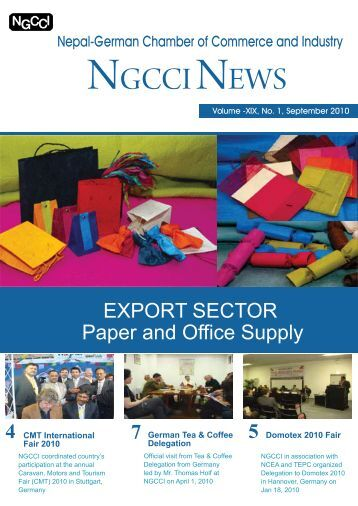 NGCCI NEWS - Nepal German Chamber of Commerce and Industry