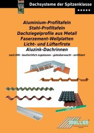 Aluminium-Profiltafeln Stahl-Profiltafeln Dachziegelprofile aus Metall ...