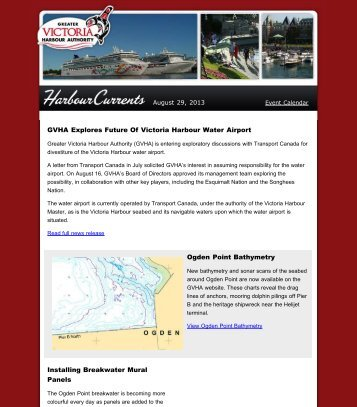 Harbour Currents - August 29, 2013 - Greater Victoria Harbour ...