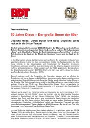 50 Jahre Disco – Der große Boom der 80er Depeche Mode, Duran ...
