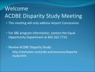 Disparity Study Meeting - Phoenix Sky Harbor International Airport