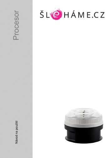 Bamix - Procesor černý (CZ)