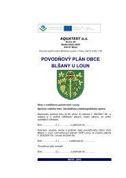 povodňový plán obce blšany u loun - Povodňový informační systém