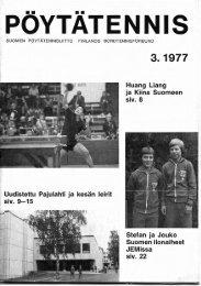 POYTATENNIS - Suomen Pöytätennisliitto