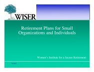 Download the PDF - Women's Institute for a Secure Retirement