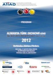 Program_Almanya Tuerk Ekonomi Guenue 2012 - Atiad