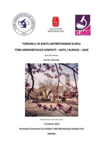 Kurs Sorumlusu - Türk Mikrobiyoloji Cemiyeti
