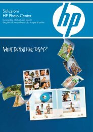 Soluzioni HP Photo Center - GSF imaging solutions
