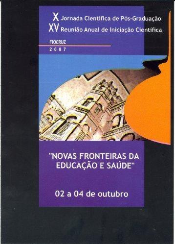 Programação 2007 - Pibic.fiocruz.br