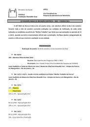BOLSAS DE INICIAÇÃO CIENTÍFICA - Pibic.fiocruz.br