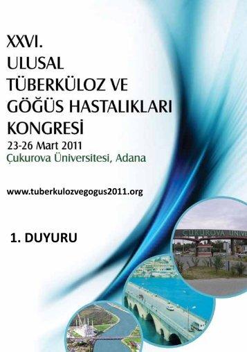 1. DUYURU - Türk Mikrobiyoloji Cemiyeti