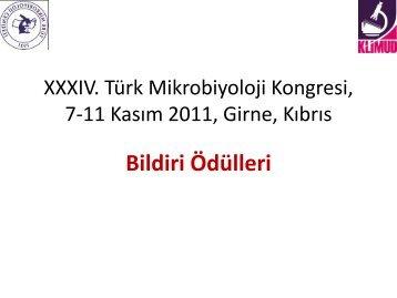 Bildiri Ödülleri - Türk Mikrobiyoloji Cemiyeti
