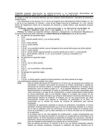 VIGESIMA Segunda Resolución de modificaciones a la ... - CPware