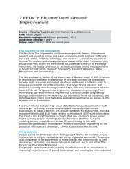 2 PhDs in Bio-mediated Ground Improvement - Geo-Engineering