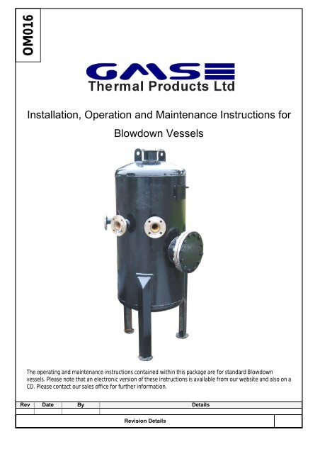 Download O&M Manual - GMS Thermal Products Ltd