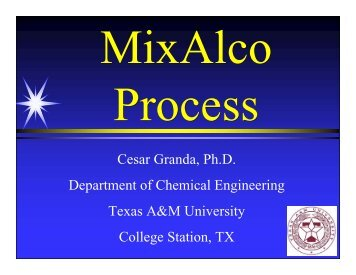 Mixed Alcohols and other Chemicals from Biomass