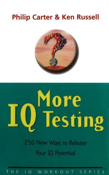 IQ Testing - Online Tech Books