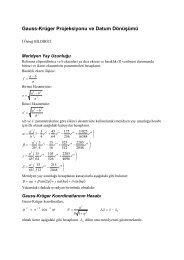 Gauss-Krüger Projeksiyonu ve Datum Dönüşümü