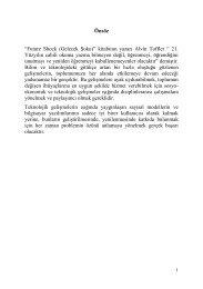 """""""Future Shock (Gelecek ġoku)"""" kitabının yazarı Alvin Toffler """" 21 ..."""