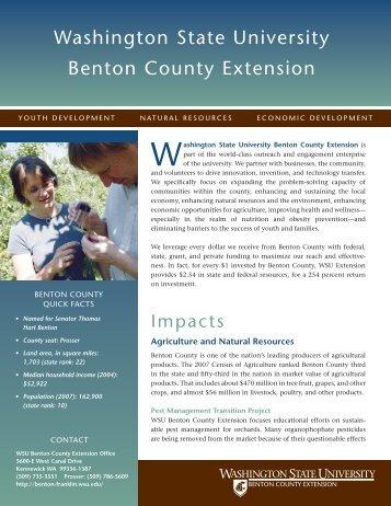 Washington state university Benton county extension - WSU Extension
