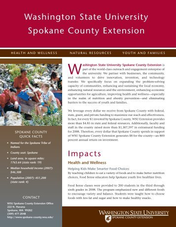 Washington state university spokane county ... - WSU Extension