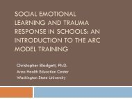 Social Emotional Learning and Trauma Response ... - WSU Extension