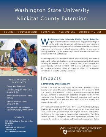 Washington state university Klickitat county ... - WSU Extension
