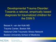 Developmental Trauma Disorder - WSU Extension