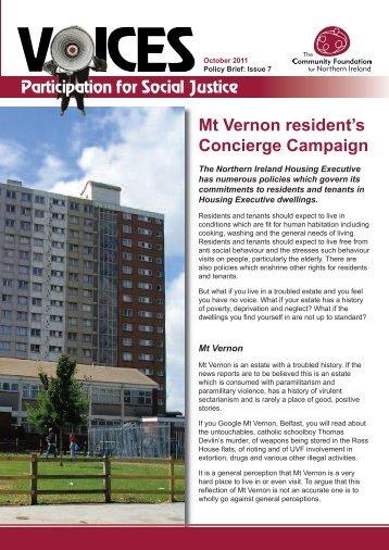 Mt Vernon resident's Concierge Campaign - Community Foundation ...