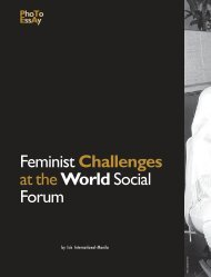 Feminist Challenges at the WorldSocial Forum - Isis International ...