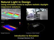 Natural Light in Design Using simulation tools to explore realistic ...
