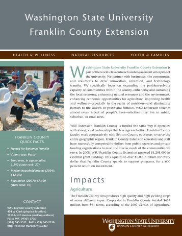 Washington state university franklin county extension - WSU Extension