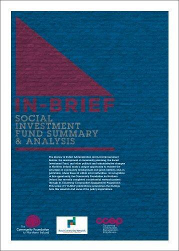 Social Investment Fund Summary & Analysis - Social Welfare Portal
