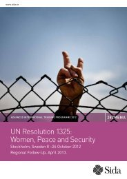 UN Resolution 1325: Women, Peace and Security - Indevelop