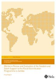 Mid-term Review and Evaluation of the Swedish and Dutch ... - Sida