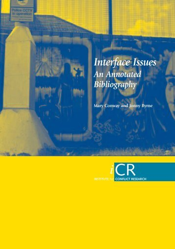 Interface Issues An Annotated Bibliography - Community Relations ...