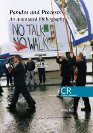 Parades and Protests - Belfast Interface Project
